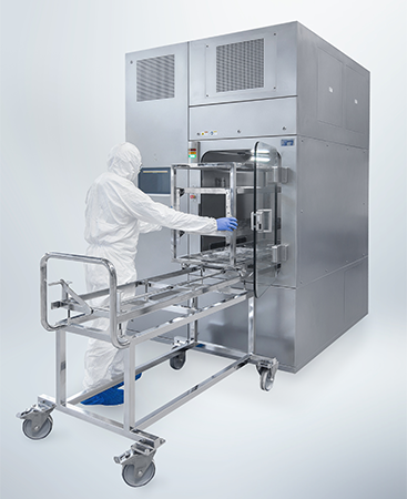 SKAN's skanfog SARA material airlock exists in different sizes to fit in your individual process