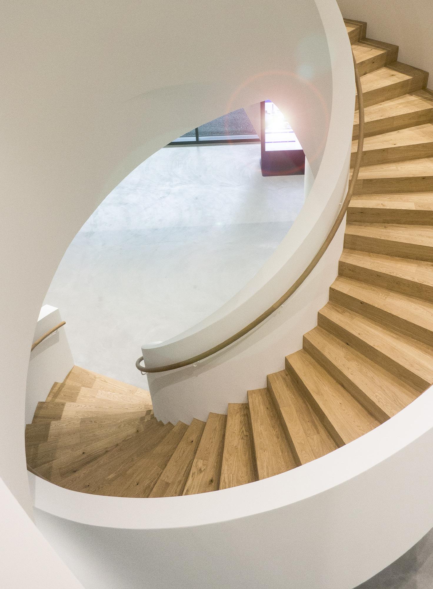 Treppe im Eingangsbereich der SKAN AG